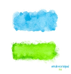 Blue and green watercolor banner vector