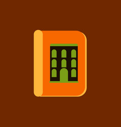 Book about ancient architecture vector