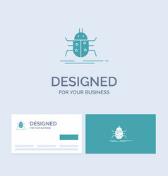 Bug bugs insect testing virus business logo glyph vector