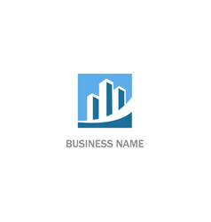 building business finance company logo vector image