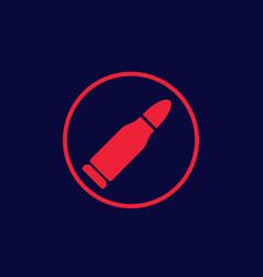 Bullet icon ammo symbol vector