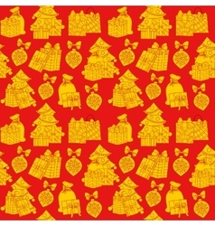 Christmas seamless pattern wrapping paper vector