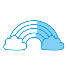 Cloud and rainbow icon vector
