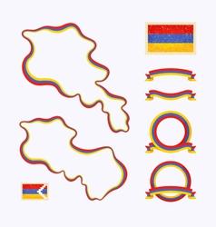 colors armenia vector image