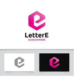 Creative letter e logo vector