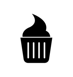 cupcake icon vector image