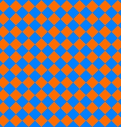 diagonal cloth seamless pattern orange and blue vector image