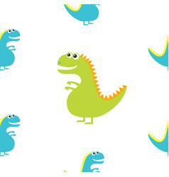 dinosaur isolated on white background cute vector image