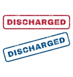 Discharged Rubber Stamps vector