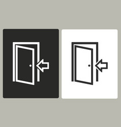 door - icon vector image