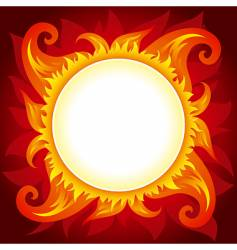 fire or sun background vector image