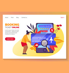 flight tickets search booking service web banner vector image