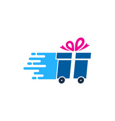 gift delivery logo icon design vector image