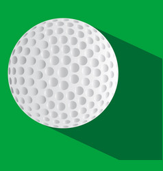 Golf ball on the green vector