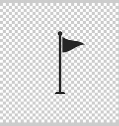 golf flag icon isolated on transparent background vector image