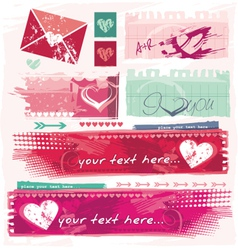 grungy valentines vector image