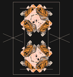 Hand drawn abstract artistic textured vector