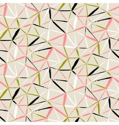 hand painted geometric pattern vector image