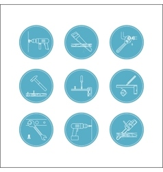 Home repair line icons vector image