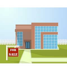 House with for sale sign Selling home vector image