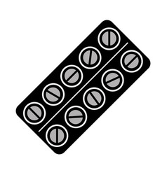 isolated pills tablet vector image