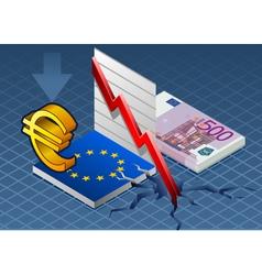 Isometric Europa crisis vector