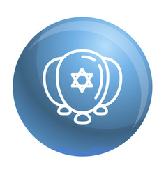 Jewish ballons icon outline style vector