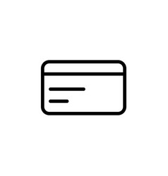 line credit card icon on white background vector image