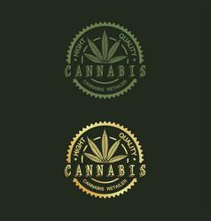 Logo design for cannabis vector
