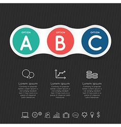 Modern infographic for 4 step vector