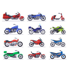 motorbike models motorcycle scooter and speed vector image
