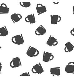 Mug seamless pattern vector