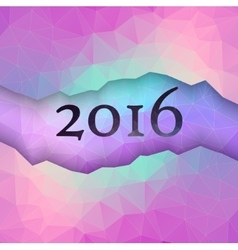 New Year greeting card made in polygonal style vector image
