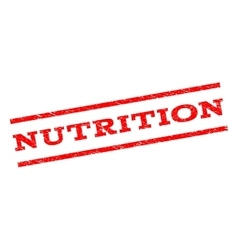 Nutrition Watermark Stamp vector image