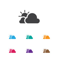 of weather symbol on sunny vector image