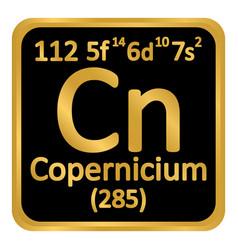 Periodic table element copernicium icon vector