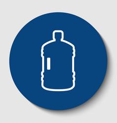plastic bottle silhouette sign white vector image