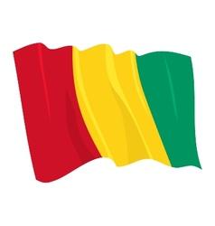 Political waving flag guinea vector
