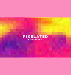 polygonal abstract background with squares vector image