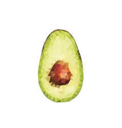 polygonal avocado vector image
