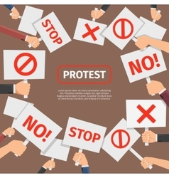 Protesters people concept Protest signs frame vector