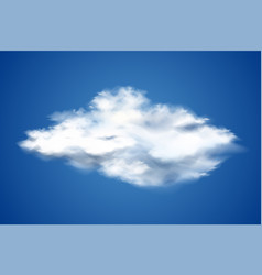 realistic cloud on blue sky design vector image