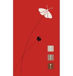 Red menu cover design vector