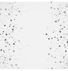 Science molecule design background vector