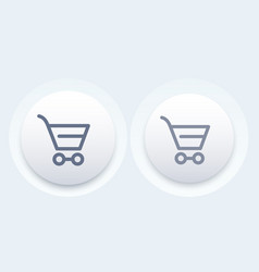 Shopping cart line icon modern button vector