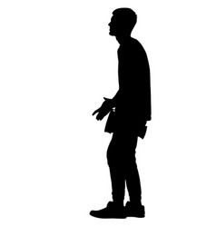 silhouette of musician playing the drum on a white vector image