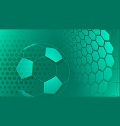 soccer background in turquoise colors vector image