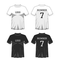 sport mens t-shirt with short sleeve in front and vector image