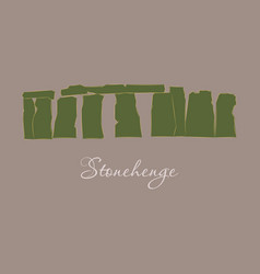 Stonehenge icon on white background stonehenge vector