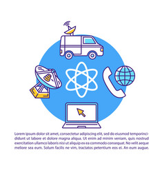 Telecommunication broadcasting industry article vector